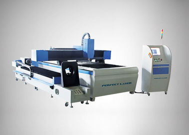 چین 90 m / min Fiber Laser Cutting Machine For Round Metal Pipe / Sheet Cutting کارخانه
